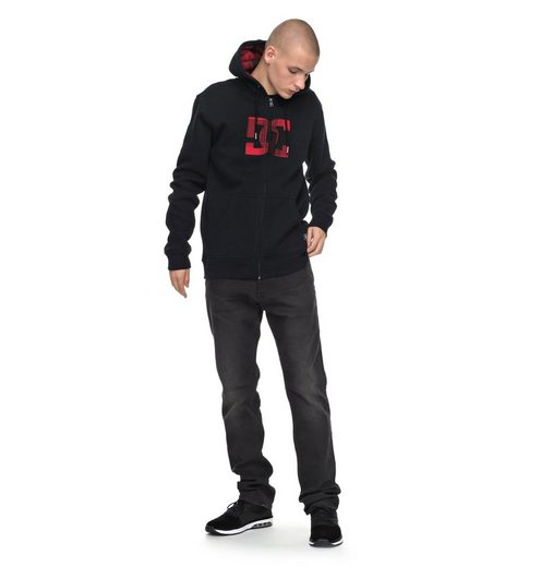 Dc Shoes Hooded Sweatshirt With Zipper Hook Up
