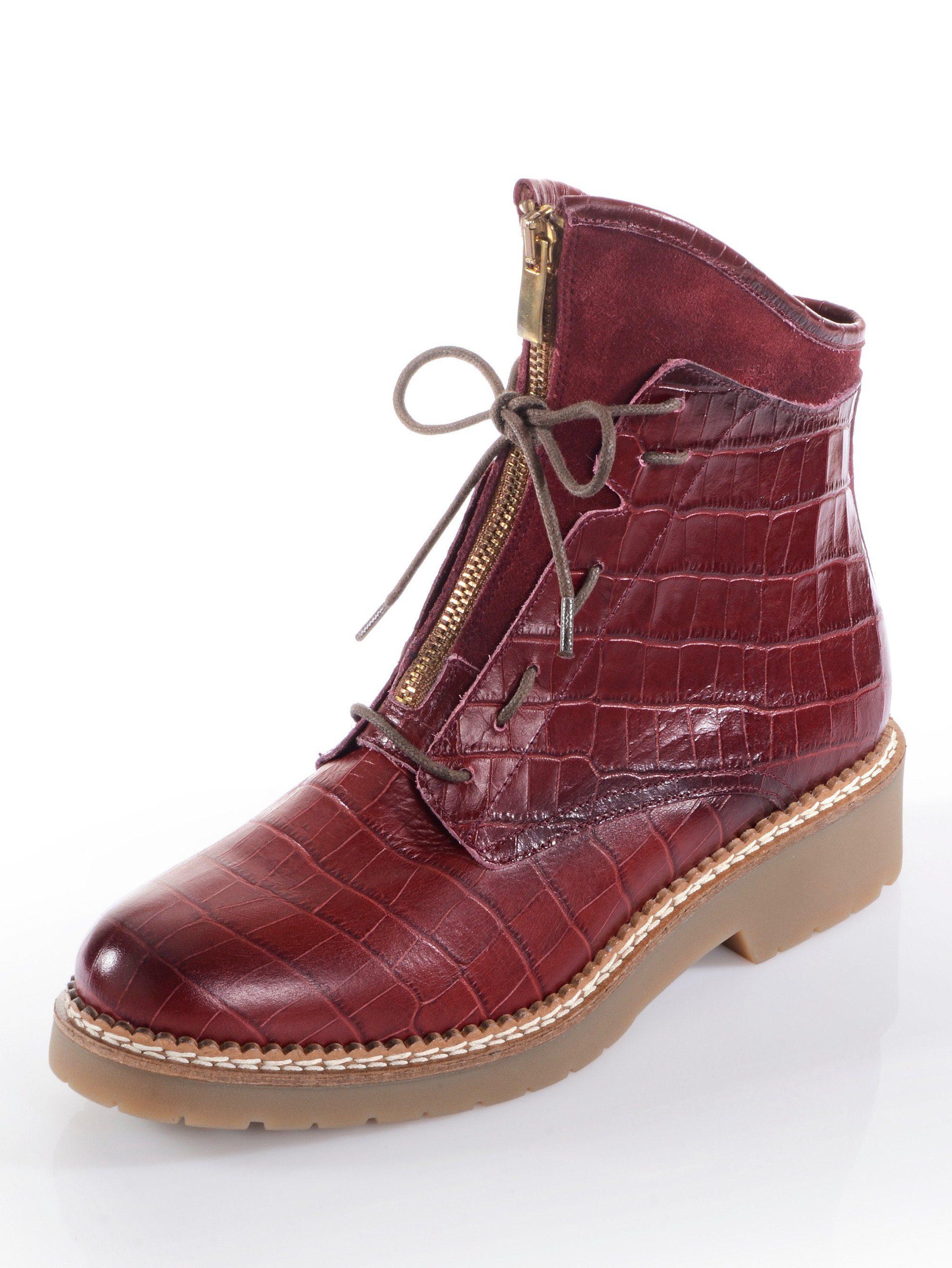 Alba Moda Boot in Kroko-Optik