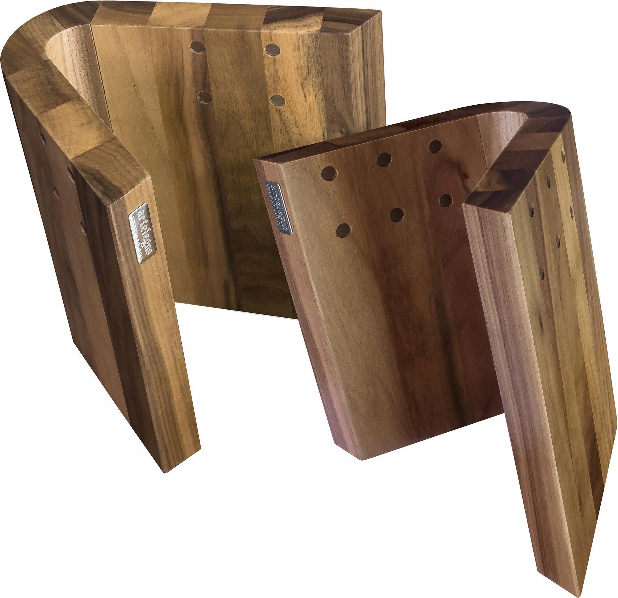 arte legno Magnet-Messerblock »CURVA« (1tlg), aus lackierten Walnussholz, Handarbeit