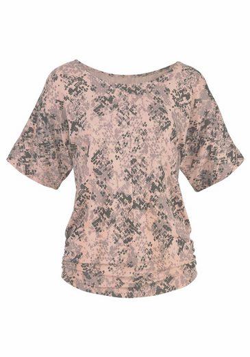 LASCANA Shirt mit seitlicher Raffung am Saum