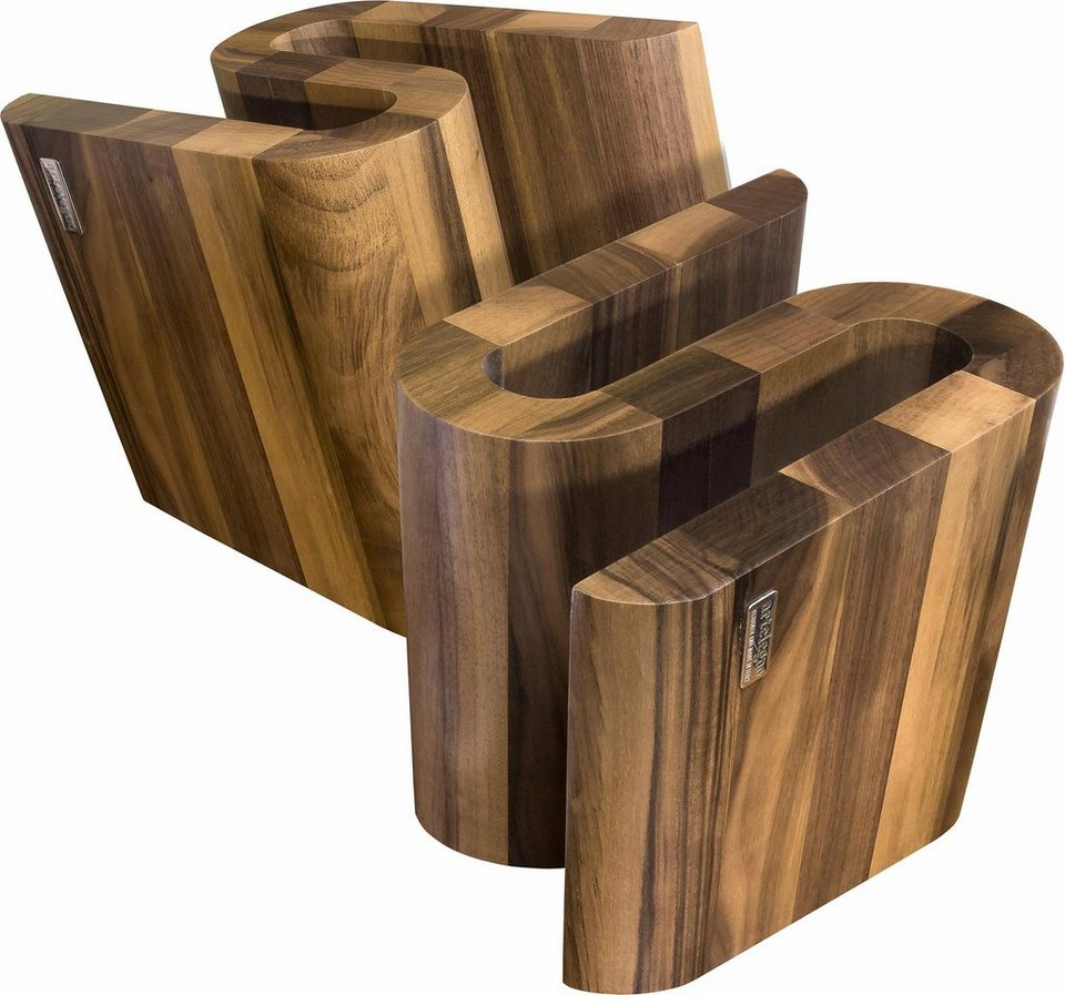 arte legno magnet messerblock s 1tlg aus lackierten walnussholz handarbeit online kaufen. Black Bedroom Furniture Sets. Home Design Ideas