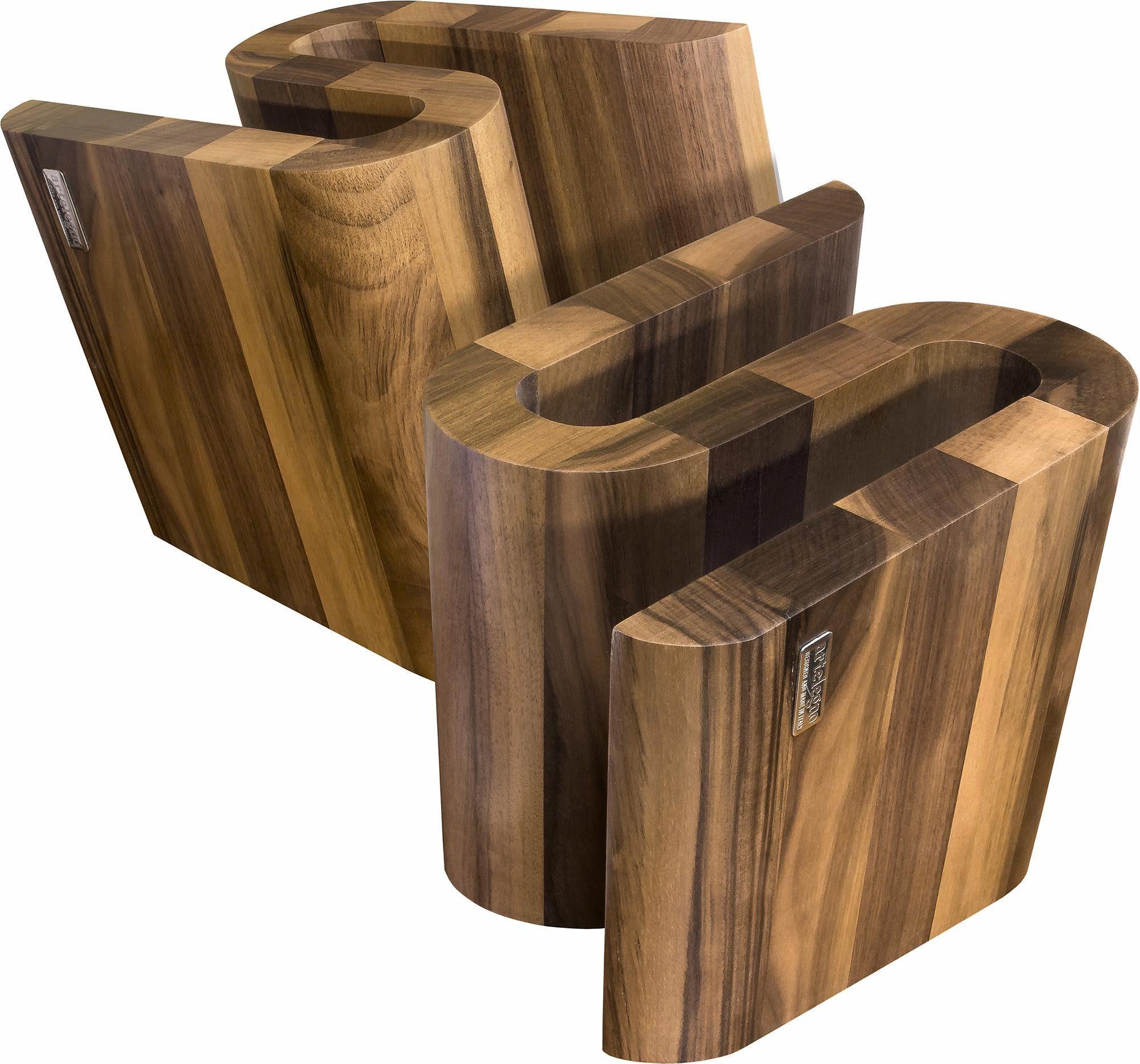 arte legno Magnet-Messerblock »S« (1tlg), aus lackierten Walnussholz, Handarbeit