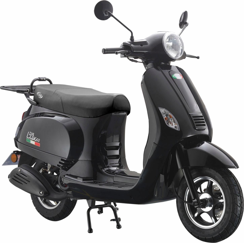 Motorroller »LUX 50«, 50 ccm 45 km/h, für 2 Personen, schwarz