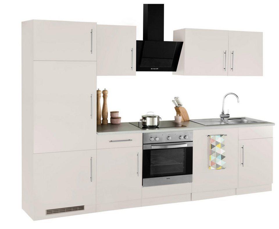Küchenzeile Cali mit E Geräten, Breite 280 cm OTTO