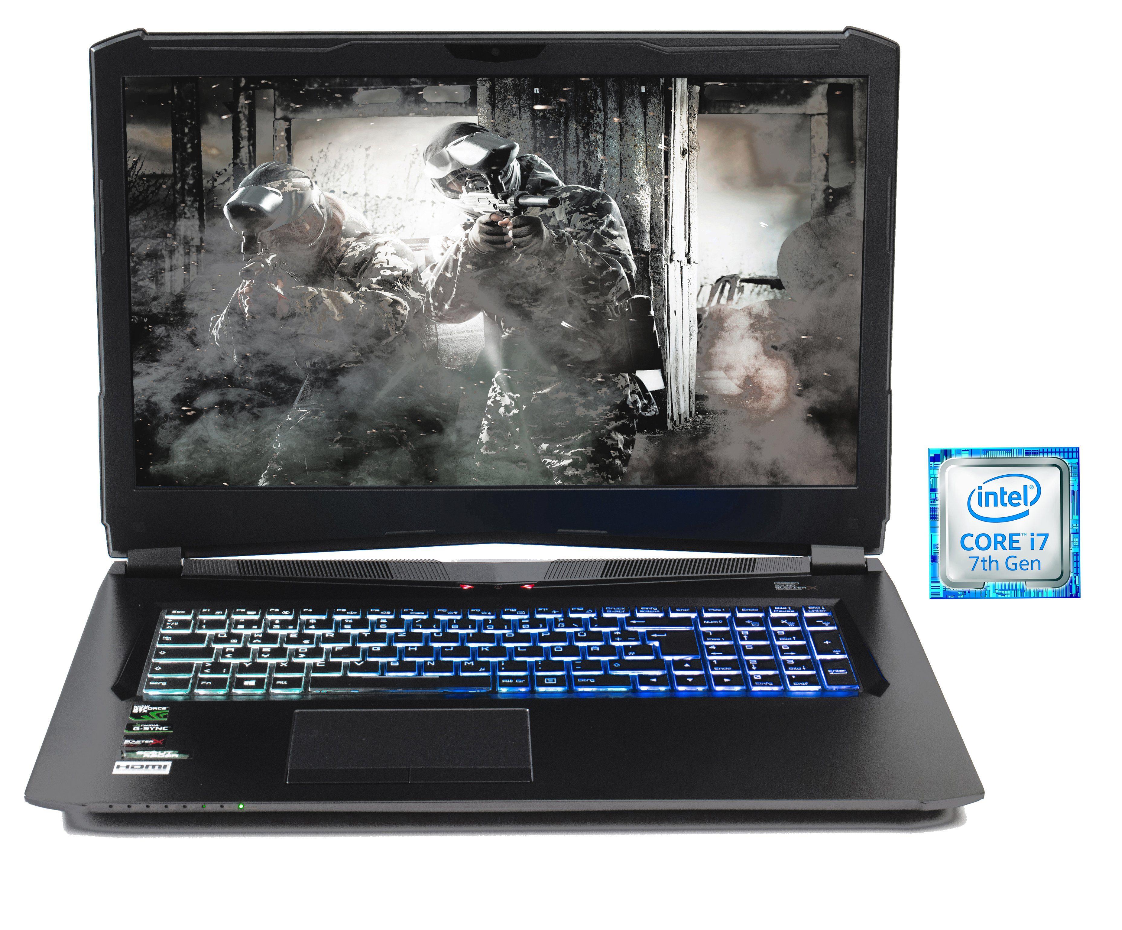 """HYRICAN 17,3"""", i7-7700HQ, 16GB, 240GB SSD + 1TB HDD, Geforce® GTX 1070 »Striker 1573«"""