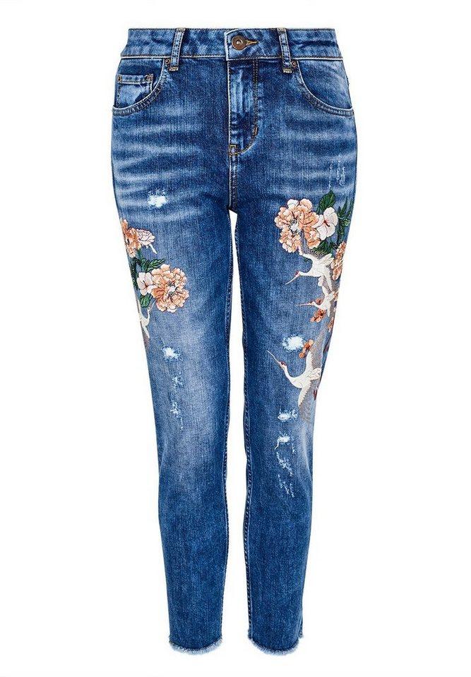 hallhuber boyfriend jeans mit stickerei kaufen otto. Black Bedroom Furniture Sets. Home Design Ideas
