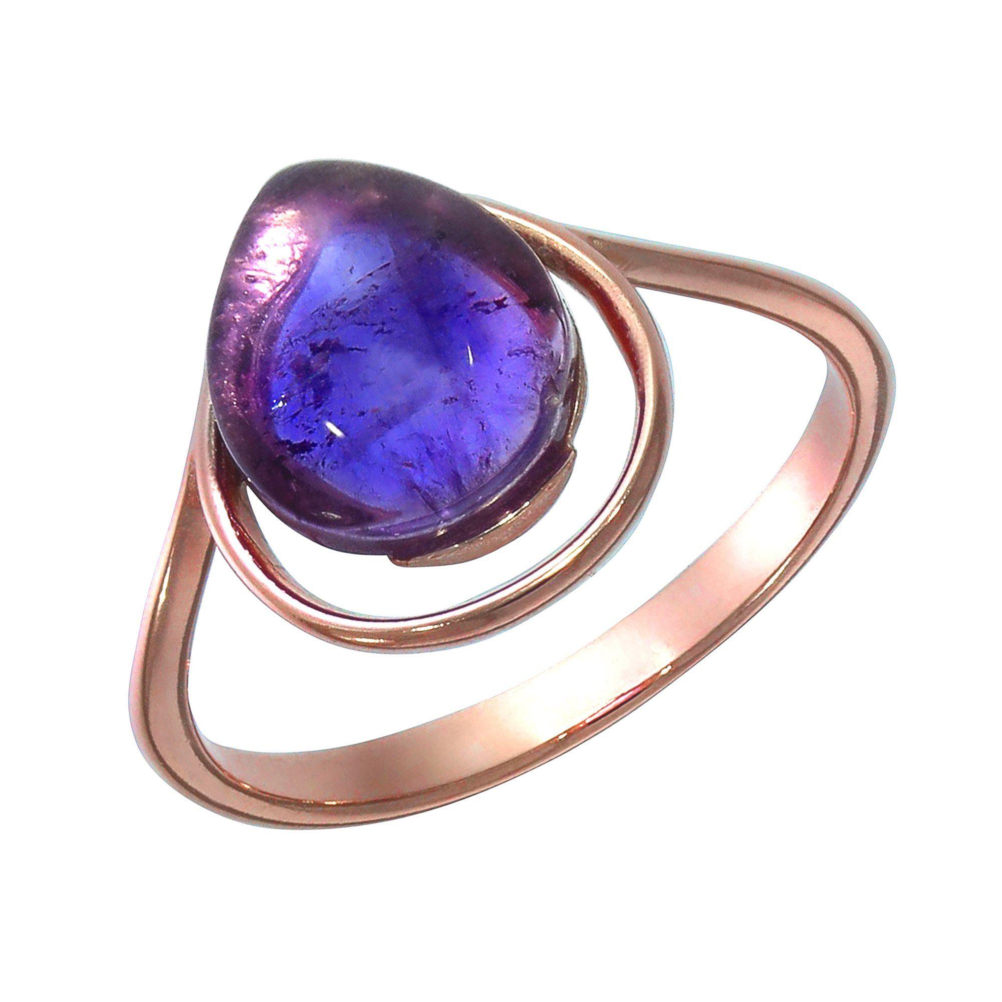 VIVANCE Ring »925/- Sterling Silber rotvergoldet Amethyst«