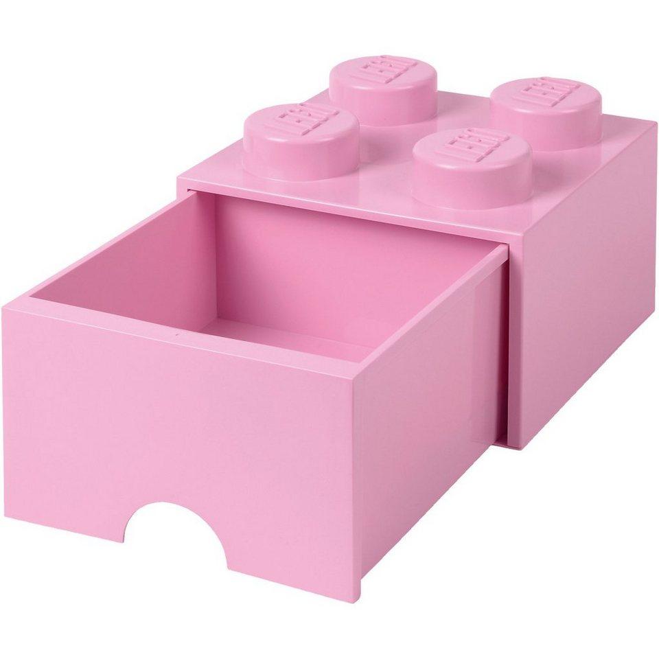 LEGO Schubladenbox Storage Brick 4er Stein Rosa