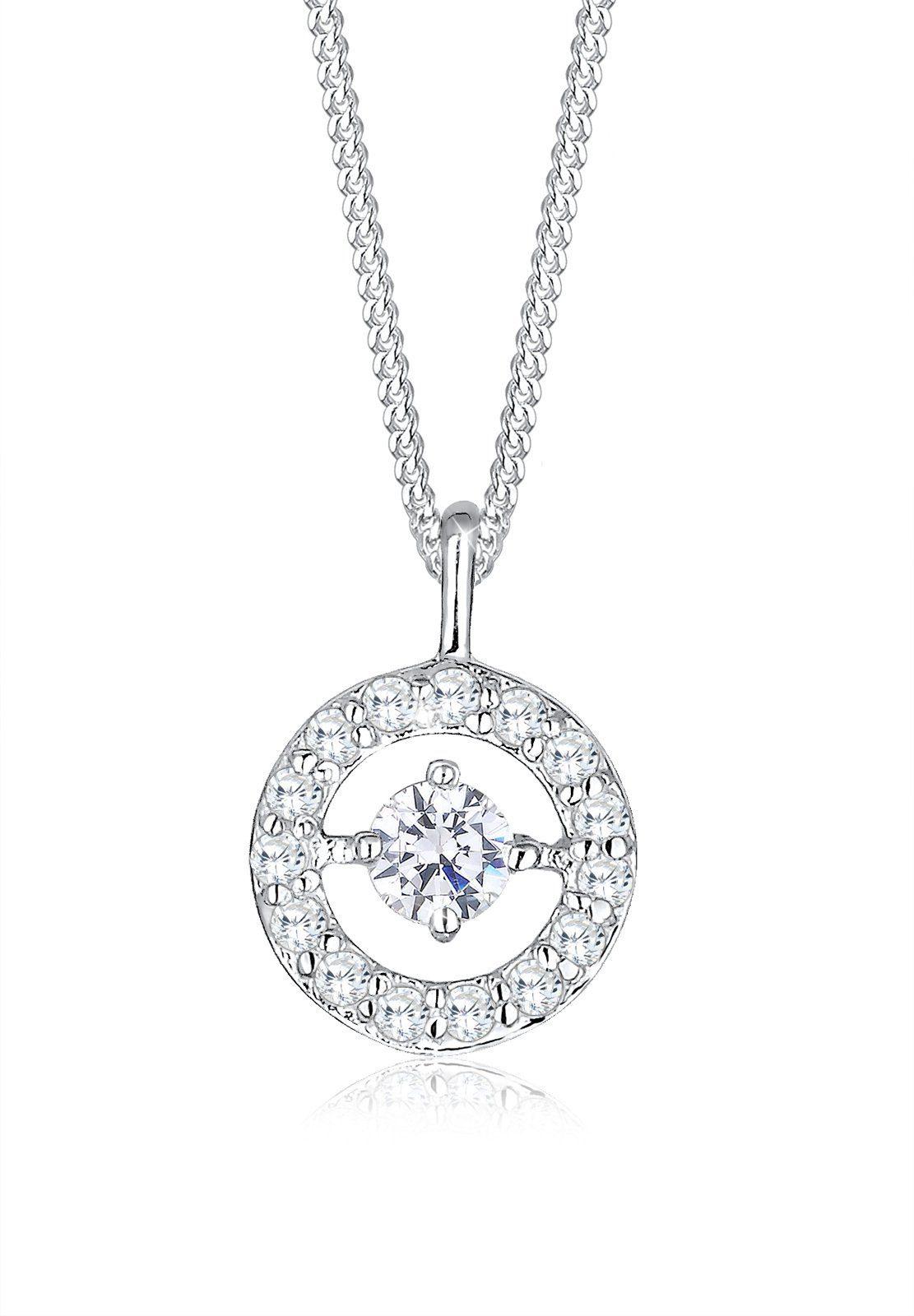 Elli Halskette »Kreis Rund Zirkonia 925 Sterling Silber«