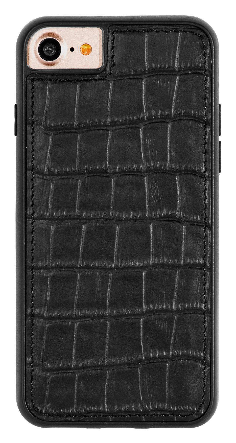 Scutes Deluxe GSM - Zubehör »Schutzhülle Croco schwarz - iPhone 6+7«