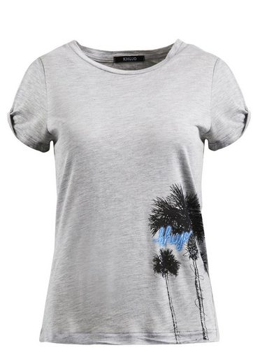 Khujo T-shirt Joyce Palmtree Print