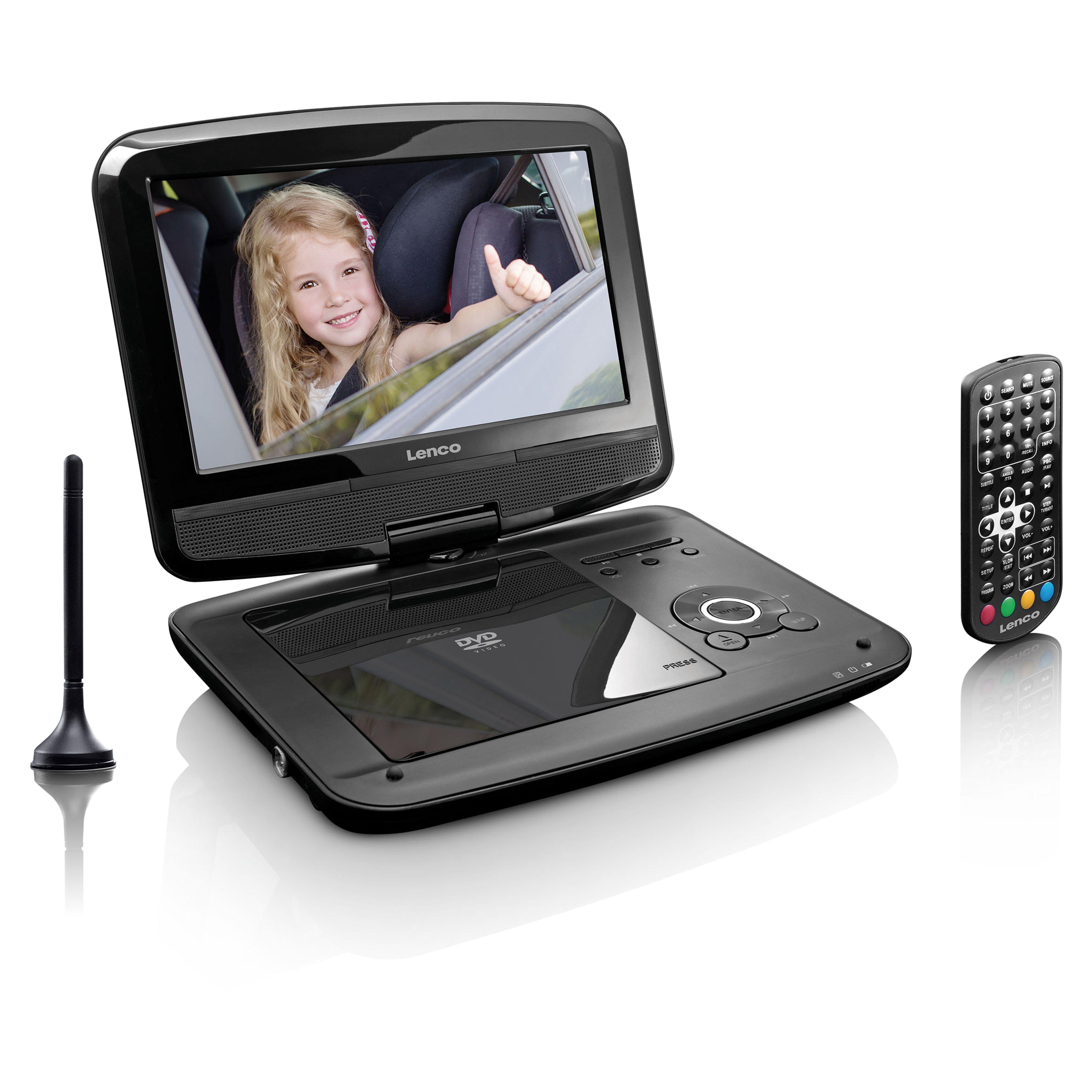 """Lenco DVD-Player mit DVB-T2-Empfänger und 9"""" TFT 16:9 Display »DVP-9413«"""