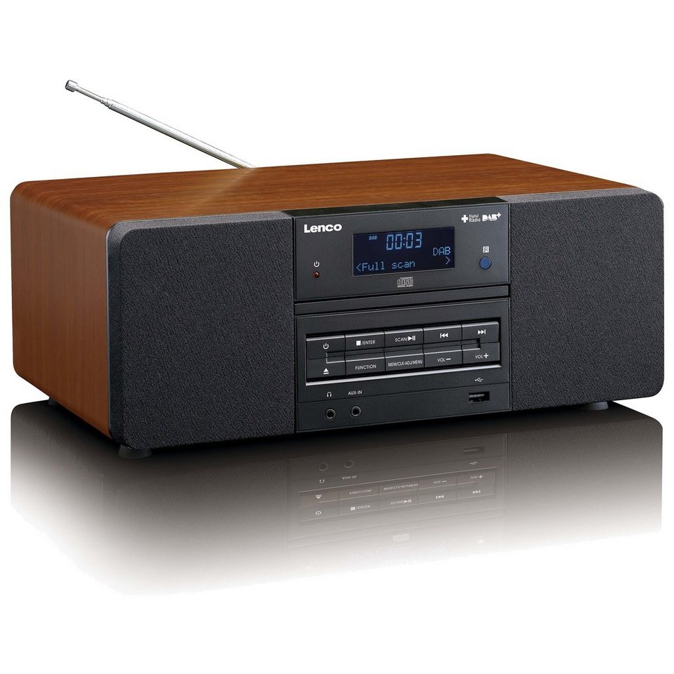 lenco dab fm radio mit cd mp3 player dar 050 online kaufen otto. Black Bedroom Furniture Sets. Home Design Ideas