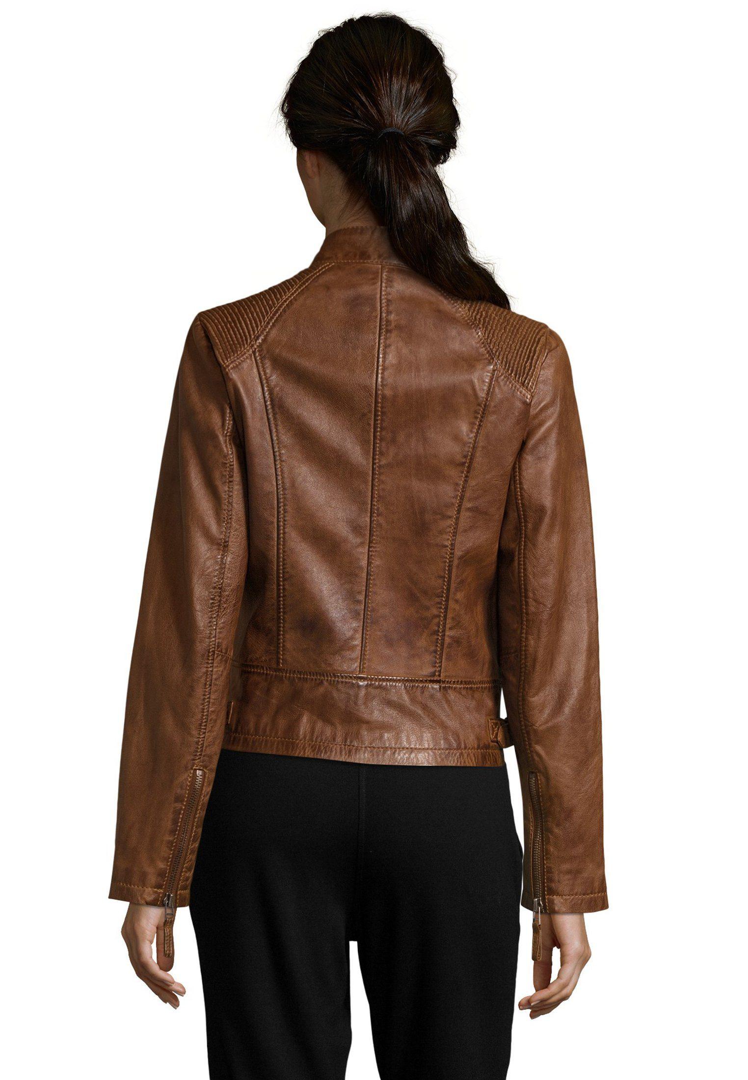 7eleven Lederjacke, Schöne Lederjacke mit lässigen Details für Damen