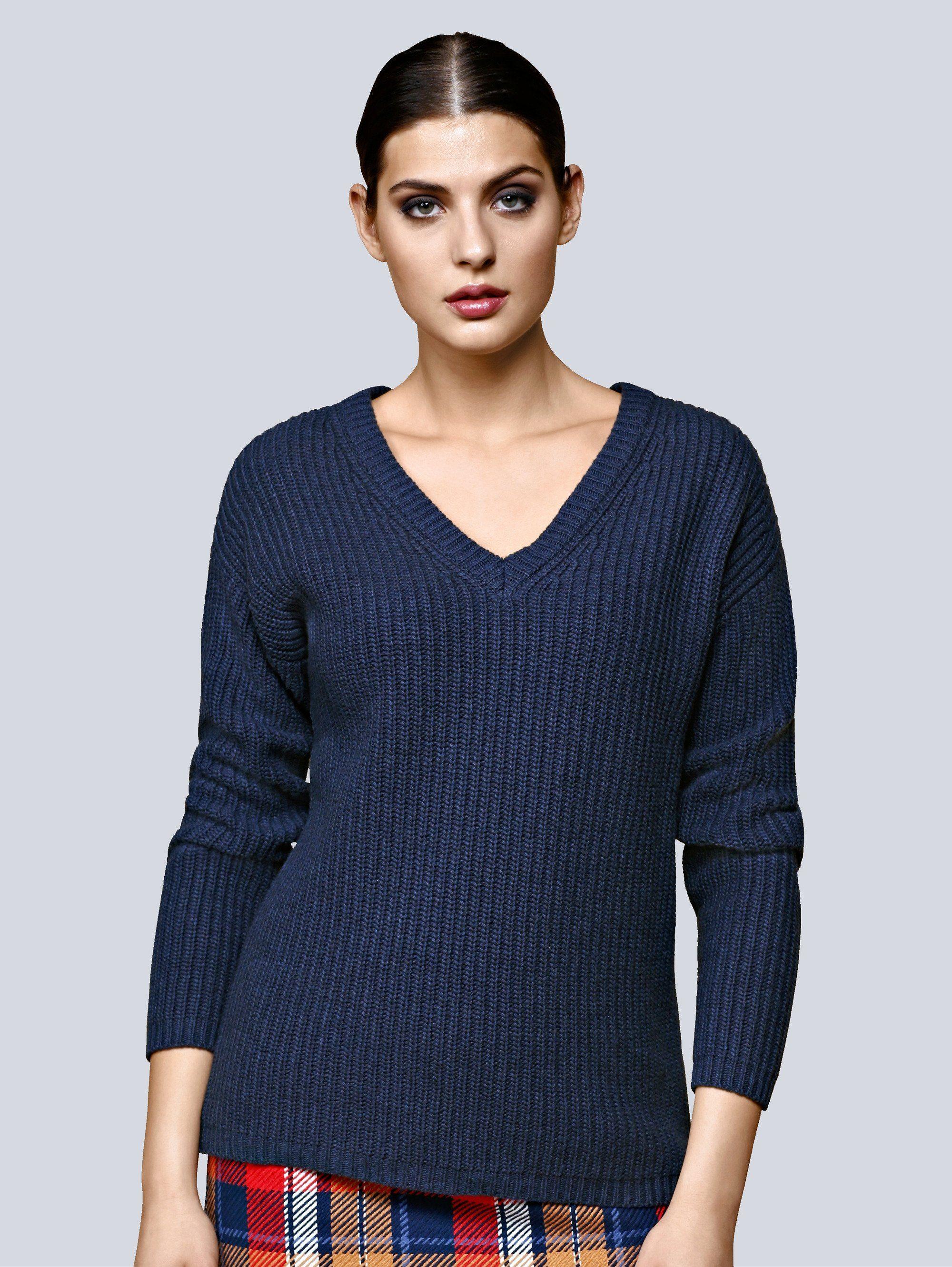 Alba Moda Patentstrick-Pullover mit Kaschmiranteil
