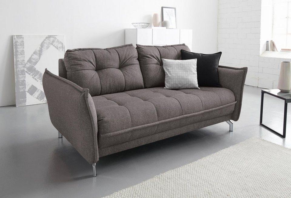 inosign 2 5 sitzer oder 3 sitzer sofa mit steppung inklusive armlehnenverstellung online kaufen. Black Bedroom Furniture Sets. Home Design Ideas