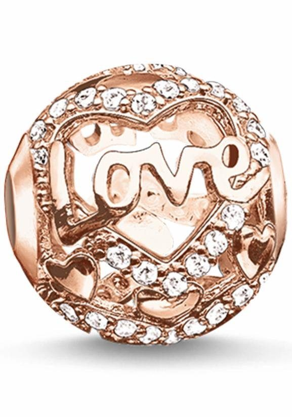 THOMAS SABO Bead »Karma Bead, Heart of Love, K0176-416-14«, mit Zirkonia