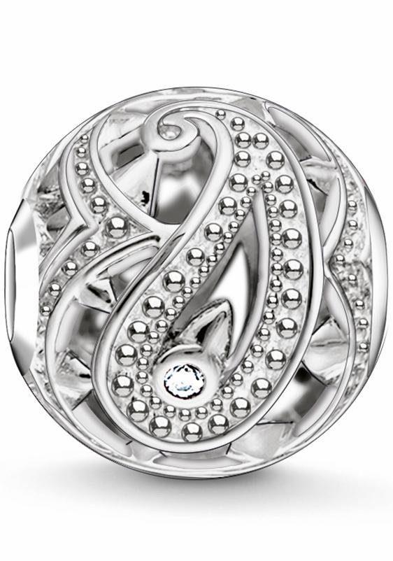 THOMAS SABO Bead »Karma Bead, Paisley-Design, K0216-643-14« mit Zirkonia