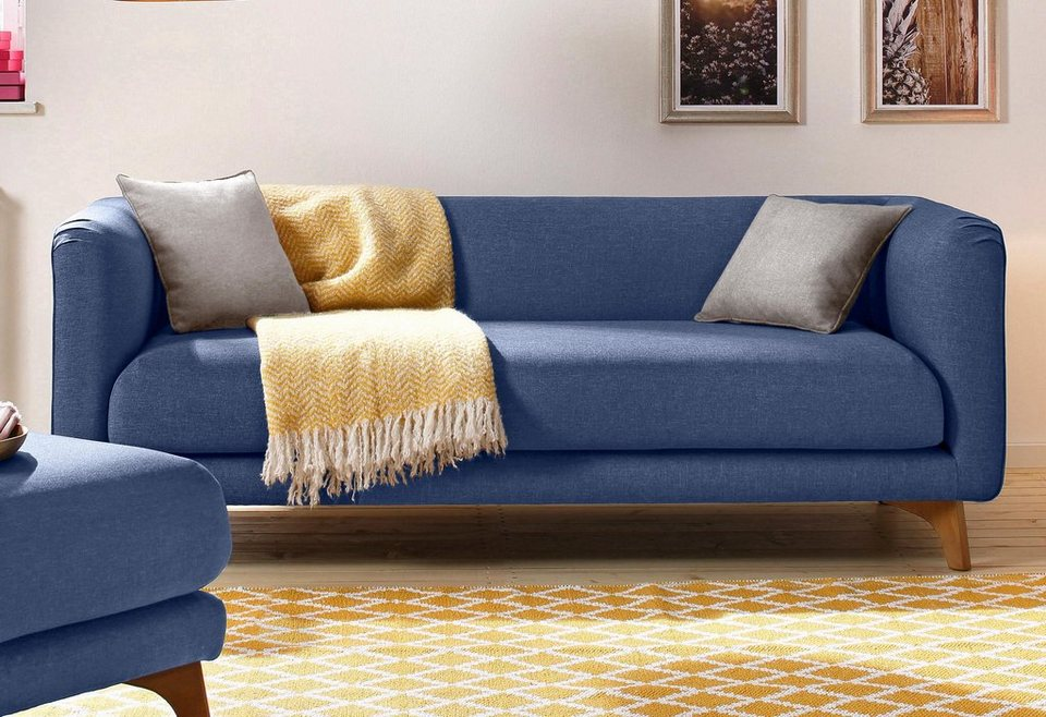 Home Affaire 3 Sitzer »Maja«, Im Skandinavischem Design Mit 2 Zierkissen