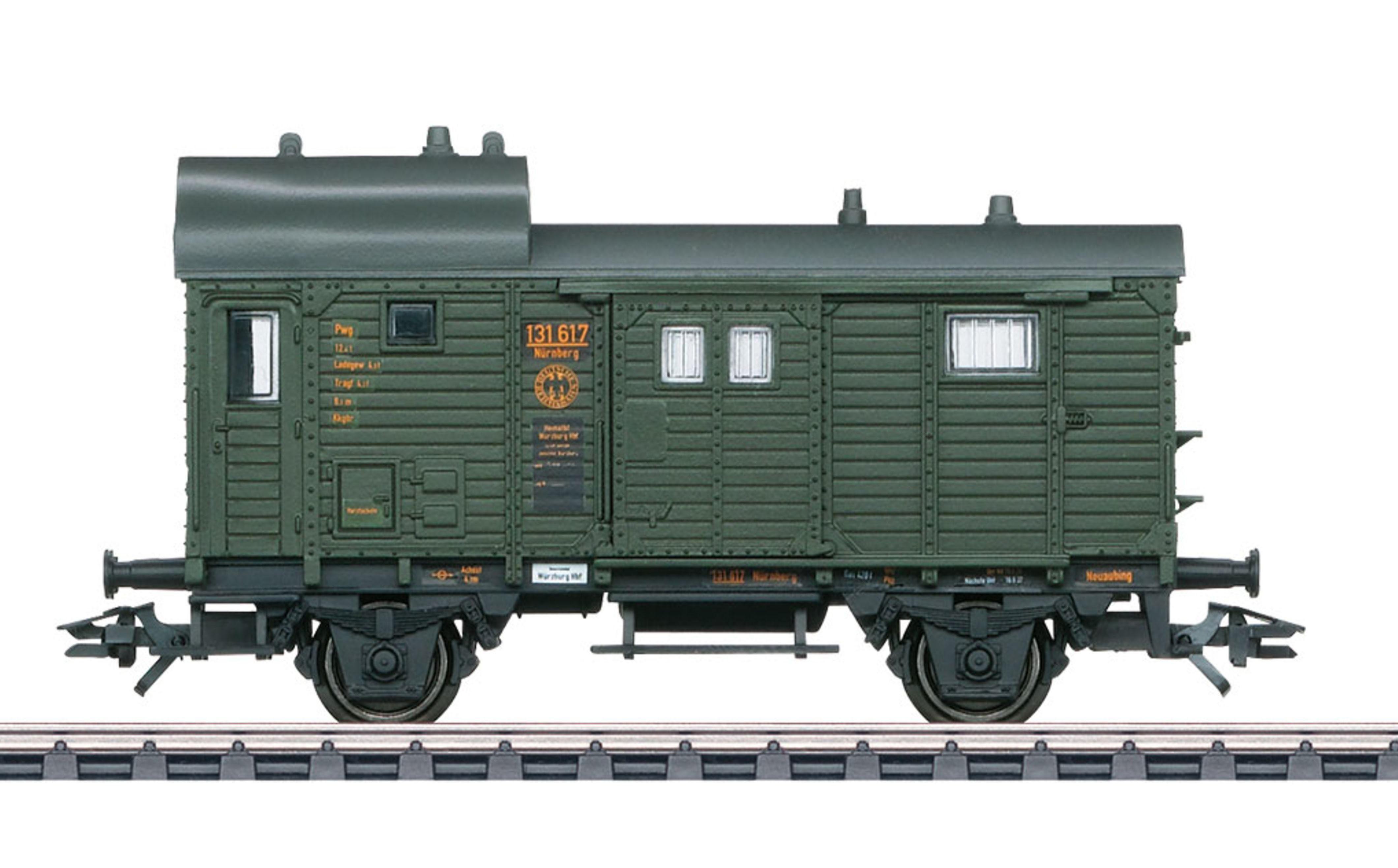 Märklin Güterwagen, Spur H0, »Güterzug Gepäckwagen Pwg Pr14, DRB, Wechselstrom - 46983«