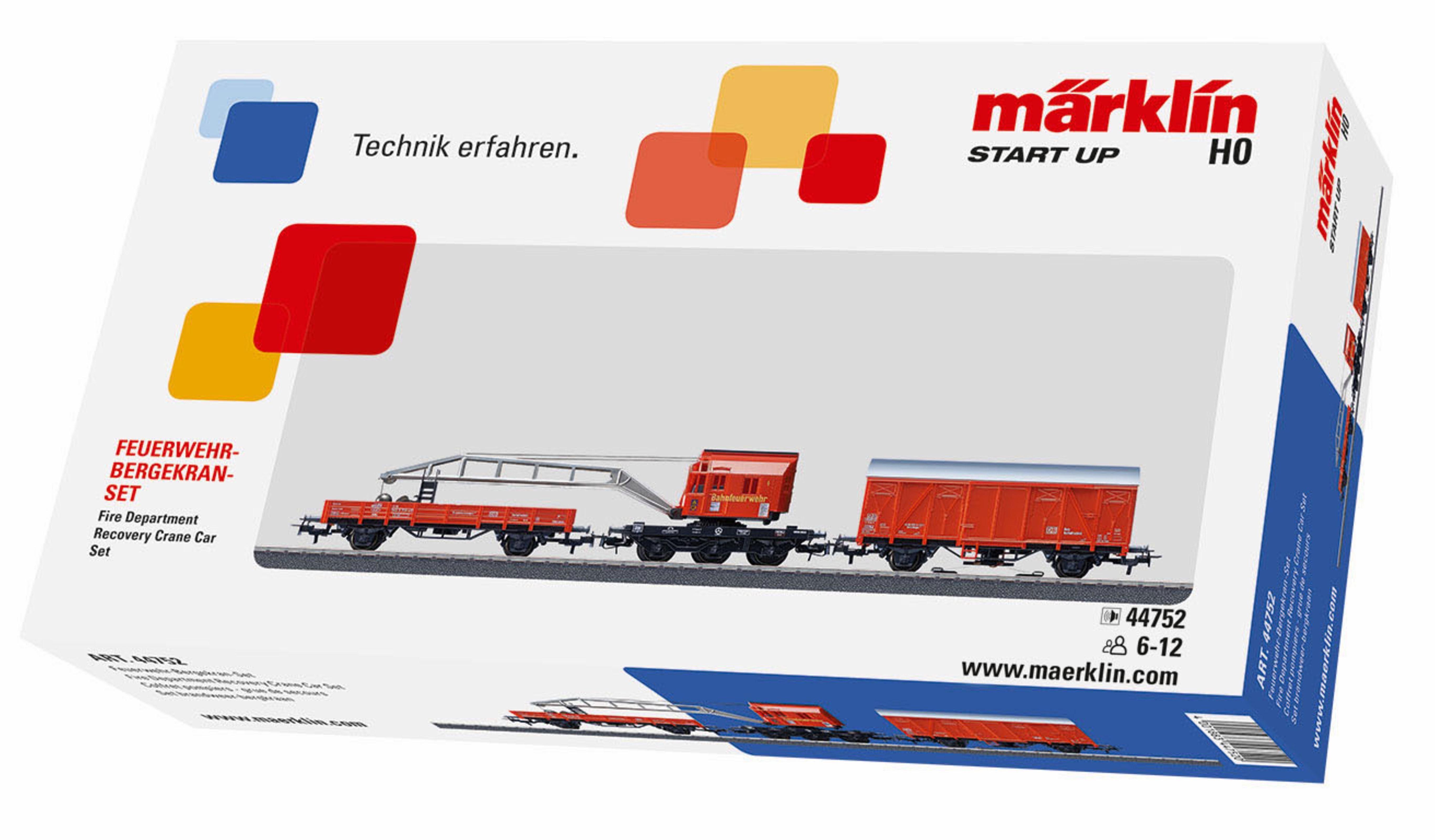 Märklin Modellbahn Zubehör, Spur H0, »Start Up, Feuerwehr Bergkran Set - 44752«