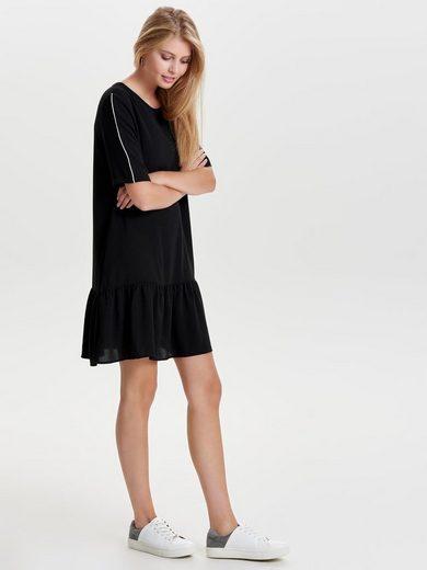Only Peplum- Kleid mit kurzen Ärmeln
