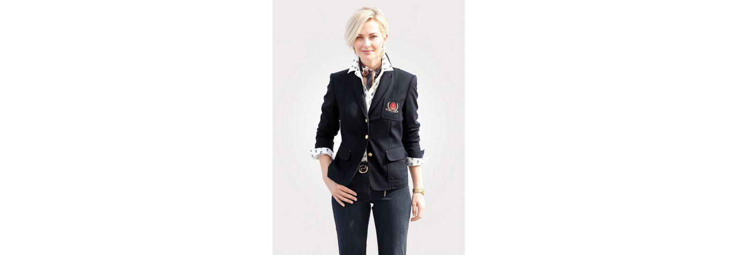 Online Einkaufen Mona Jerseyblazer mit dekorativer Wappenstickerei Billig Verkauf Besuch Visa-Zahlung Online Billig Zu Verkaufen Sehr Billig zPG62T
