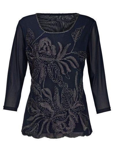 Mona Shirt mit Glanzgarnstickerei und Stäbchenperlen