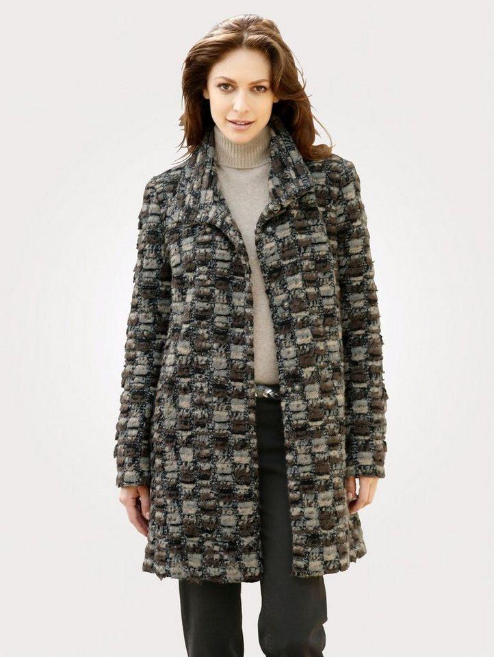 Damen Mona  Wolljacke in weicher Qualität braun | 04055715253186