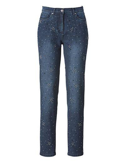Mona Jeans mit aufwändiger Strasszier