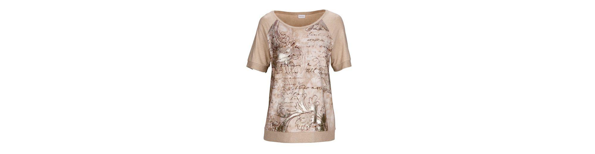 Ganz Welt Versand Mona Shirt mit Strickbündchen am Saum Freies Verschiffen 100% Original iMrU9