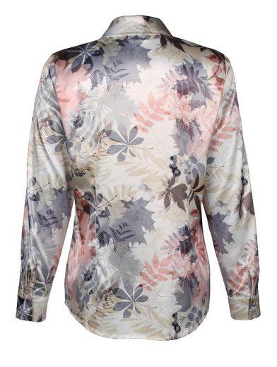 Dress In Hemdbluse in herbstlichem Druckdessin