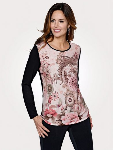 Mona Shirt mit effektvollem Druckdessin