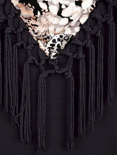 Paola Shirt mit Fransen am Ausschnitt
