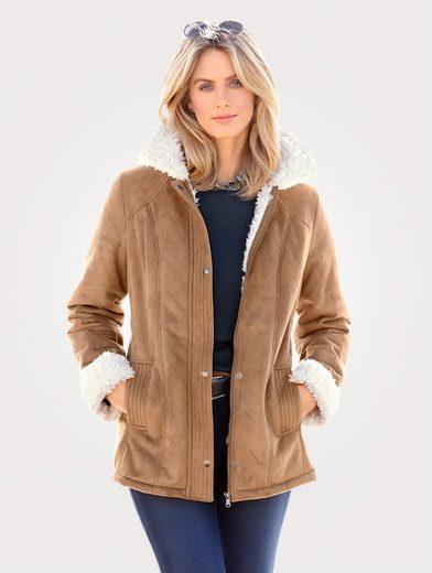 Mona Jacket In Faux Shearling