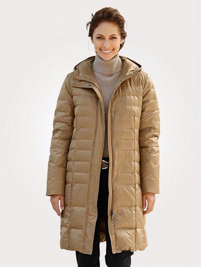 Mona Downy Coat In Slightly Shiny Ware