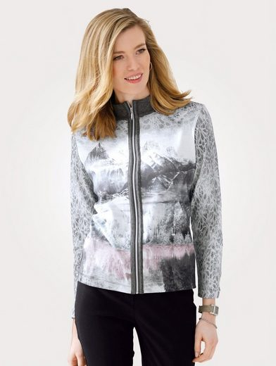 Mona Shirtjacke mit Landschaftsdessin
