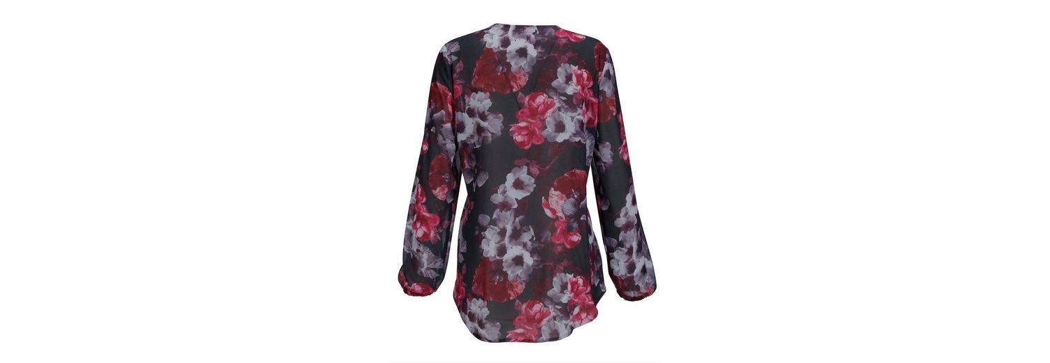 Rabatt Vorbestellen Mona Longbluse mit prachtvollem Blütendruck Rabatt Niedrigsten Preis Rabatt 100% Authentische Kostengünstige Online-Verkauf j9cftoY