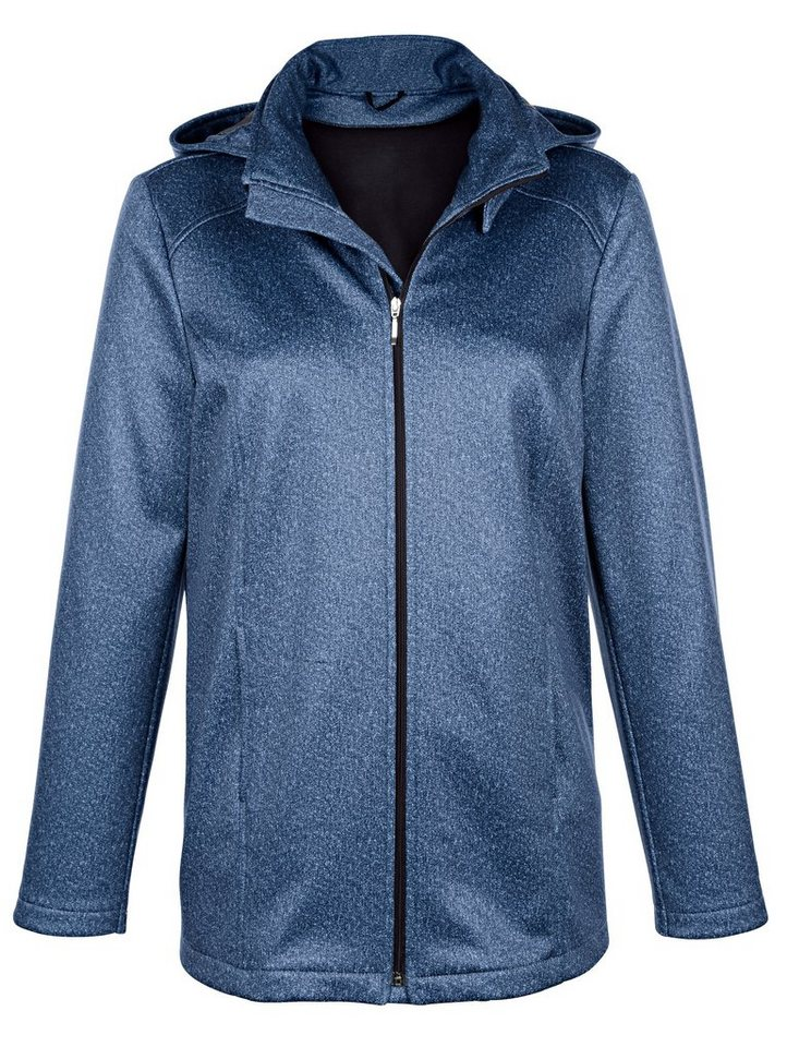 Dress In Softshelljacke in melange Qualität | Bekleidung > Jacken > Softshelljacken | Blau | Dress In