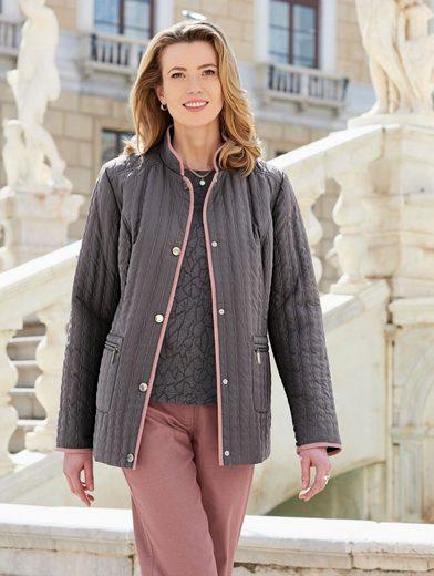 Mona Jacke mit Glanzgarn-Steppungen