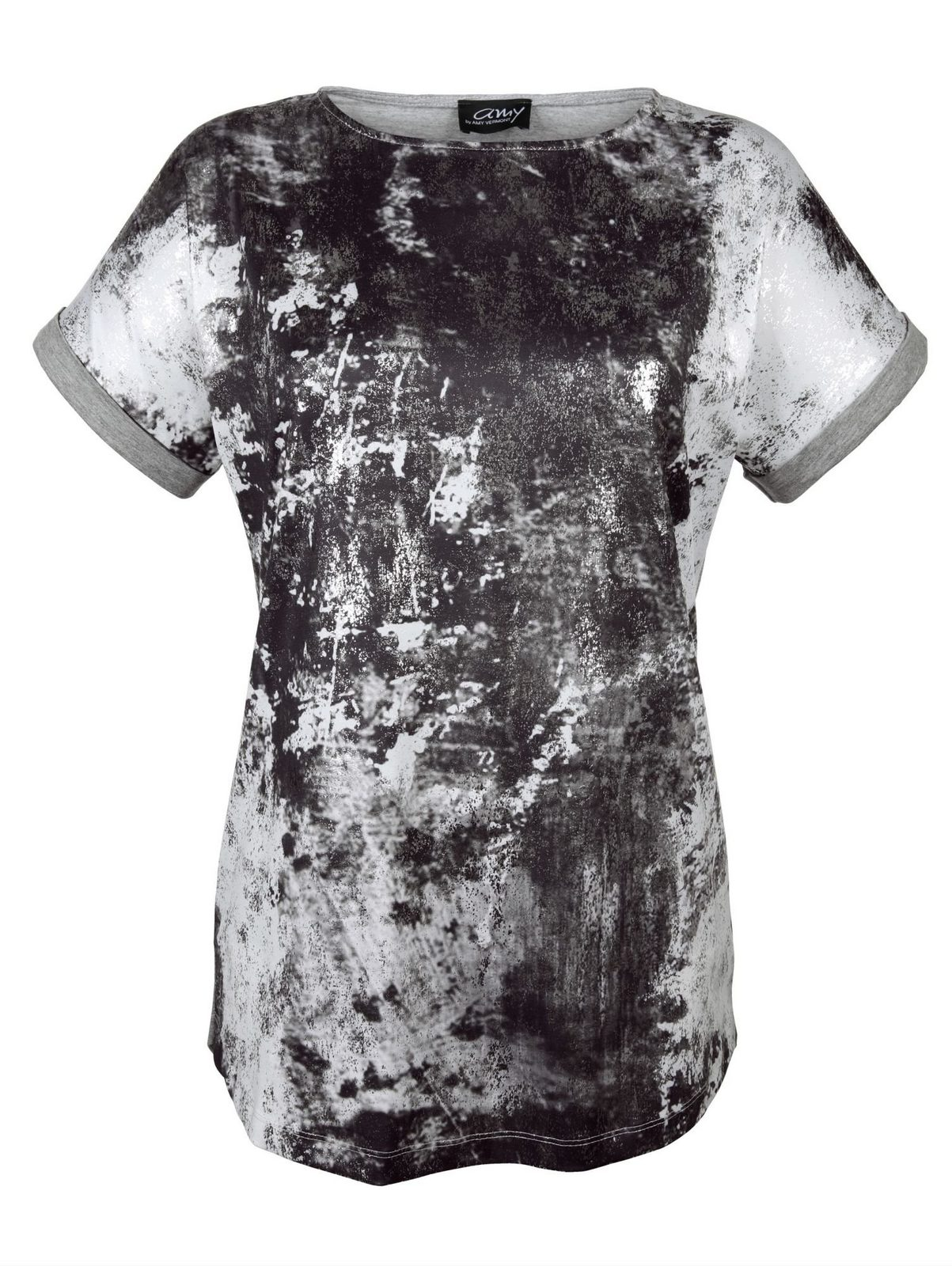 Amy Vermont Shirt mit silberfarbenem Foliendruck jetztbilligerkaufen