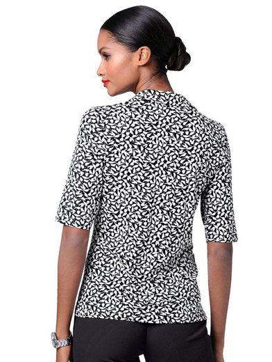 Alba Moda Shirt mit kleinem Schwalben-Print allover