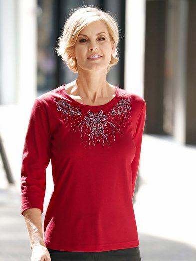 Paola Shirt mit Steinchendekoration