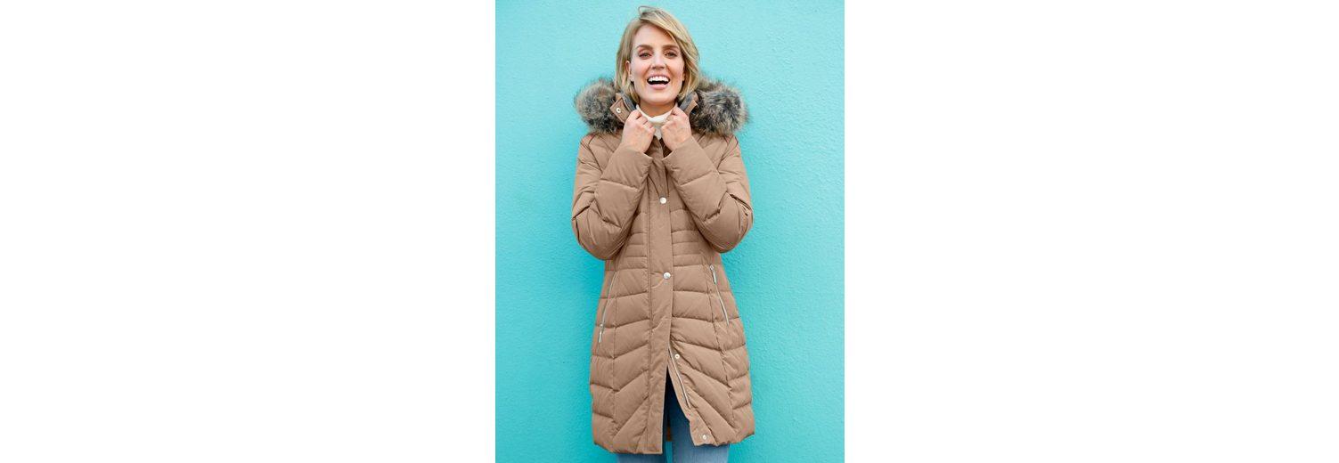Paola Daunenmantel mit Webpelzverbrämung Verkauf Mode-Stil Discounter Standorten Online Einkaufen Freies Verschiffen Ausgezeichnet Rabatt-Spielraum Store ofmhjhn