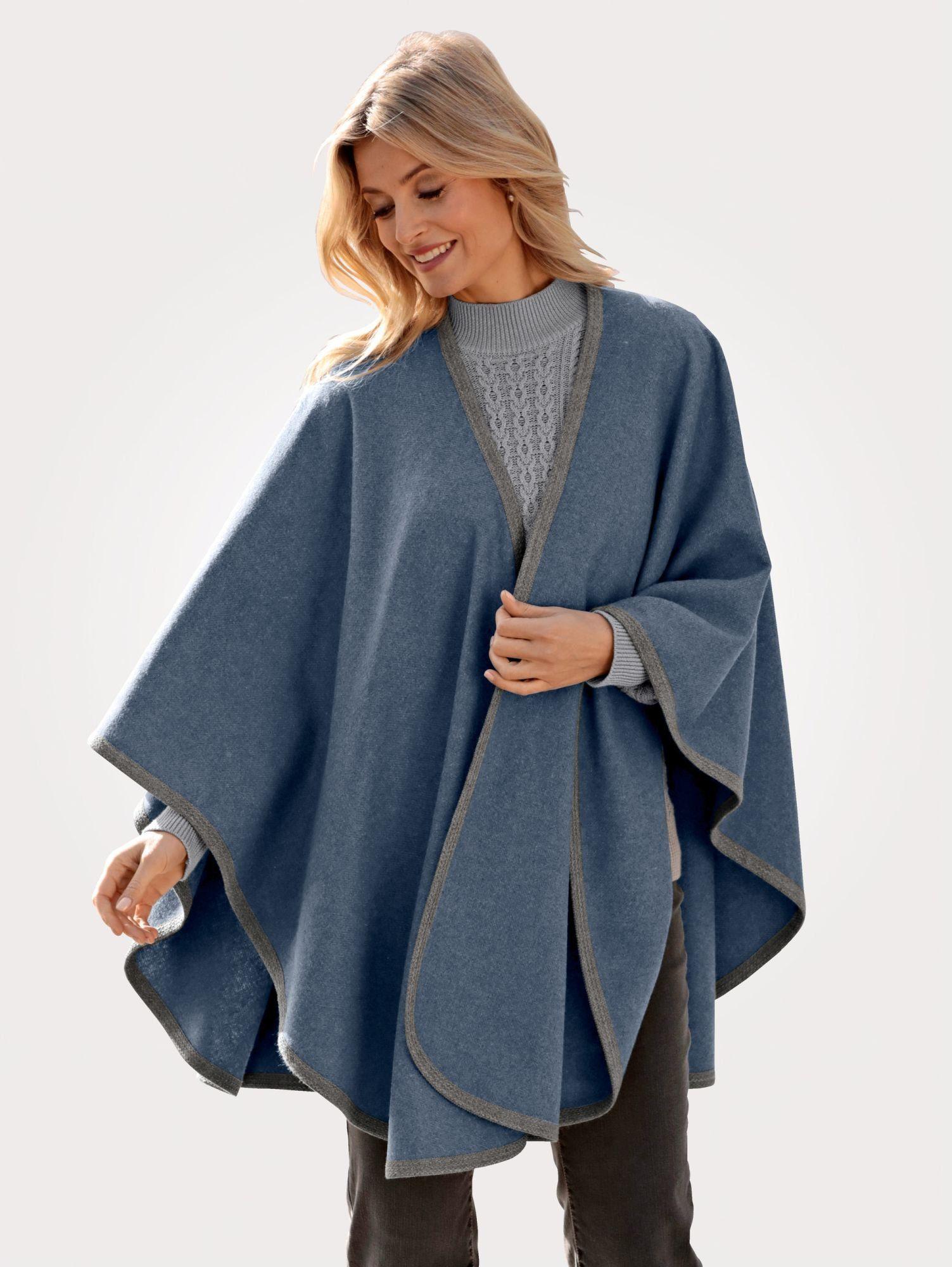Mona Cape mit wärmender Wollbeimischung