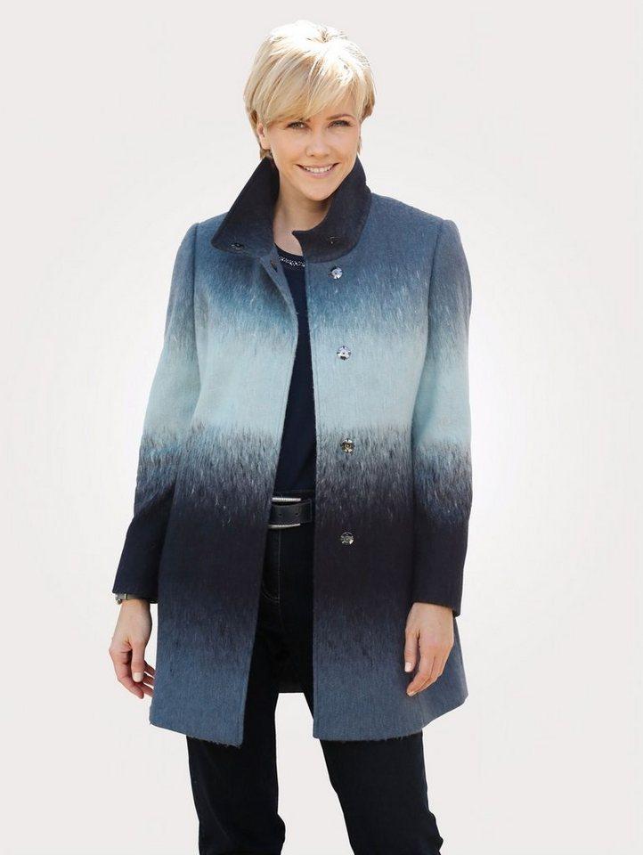Damen Mona  Wolljacke mit Farbverlauf blau | 04055715259799