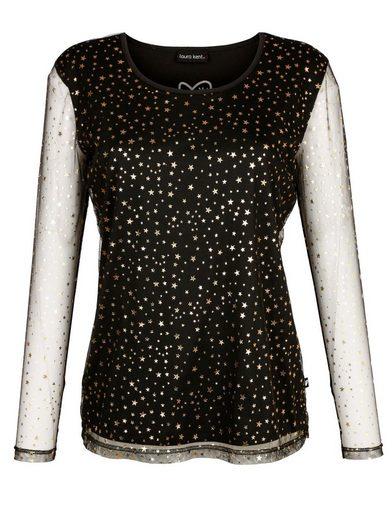 Laura Kent Shirt mit transparenten Ärmeln