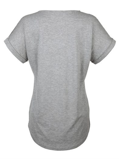 Amy Vermont Shirt mit silberfarbenem Foliendruck