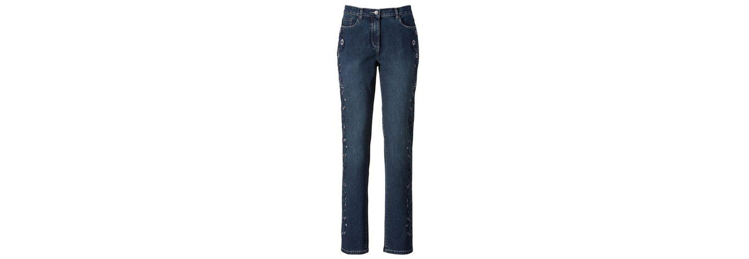 Jeans Mona Jeans Blumenstickerei Mona mit Jeans mit Blumenstickerei Mona mit 0FxTn