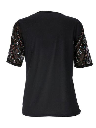 Mona Shirt mit funkelnden Pailletten und Perlen
